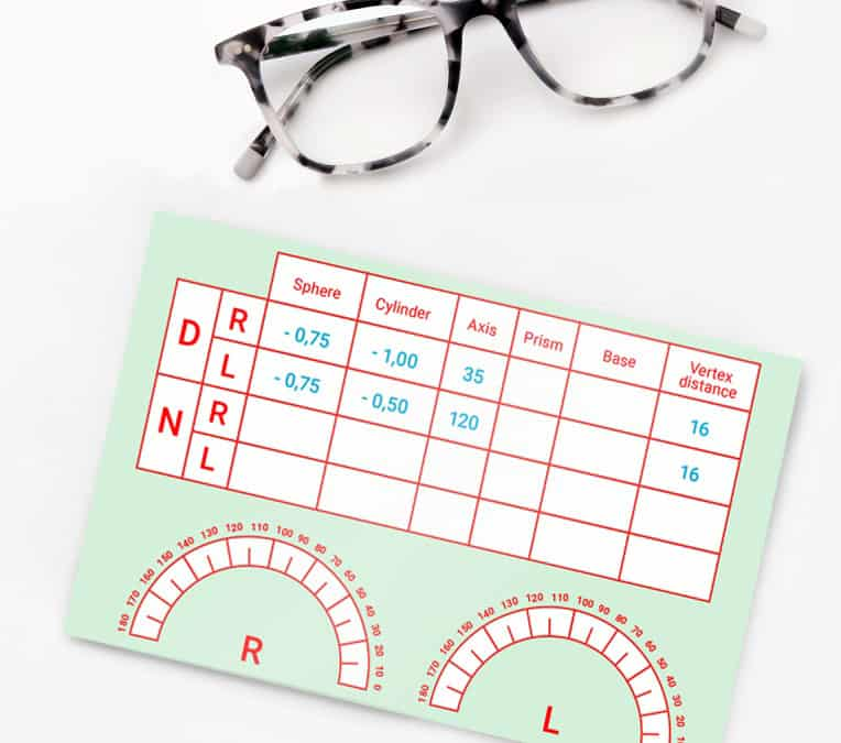 What is an eyeglass prescription?
